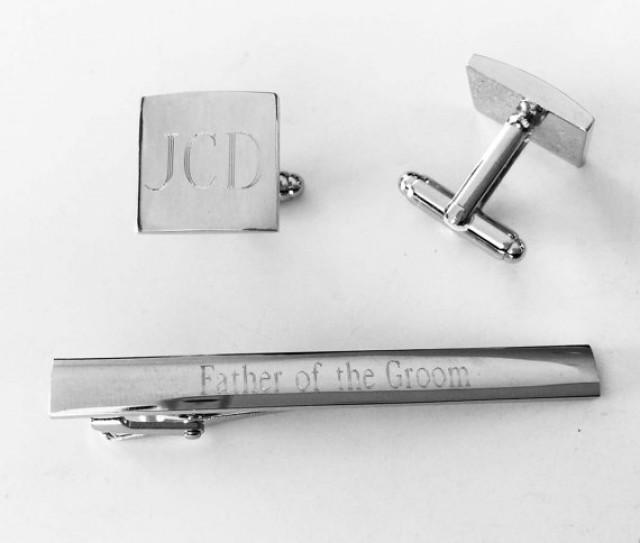 set of 4 groomsmen gifts personalized custom engraved