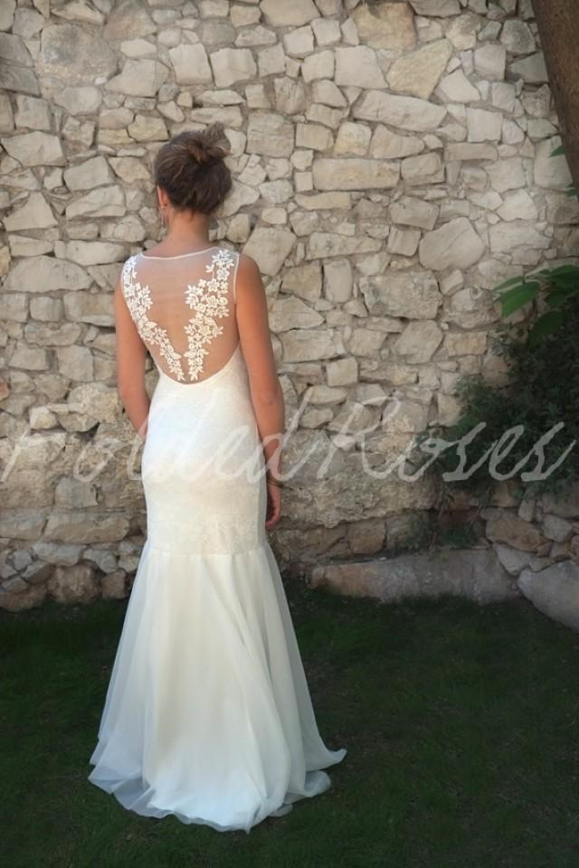 Lace wedding dress wedding dress lace fishtail wedding for Custom mermaid wedding dress