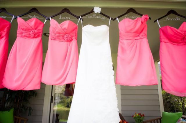 ideas bridesmaid dress hangers