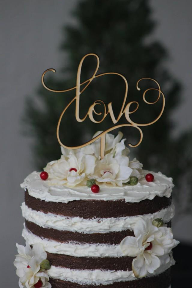 Rustic LOVE Wedding Cake Topper