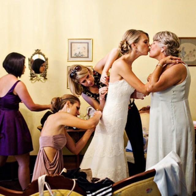 wedding photo - Bride and her mom!