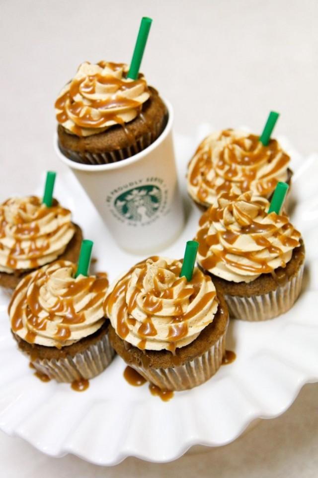Espresso Cupcakes With Milk Chocolate Ganache And White Chocolate ...