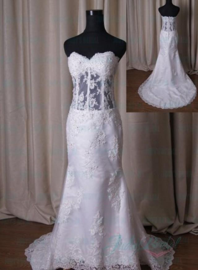 Seethrough wedding dress sexy