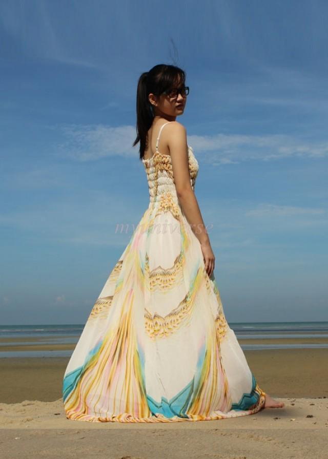 maxi dress beach wedding