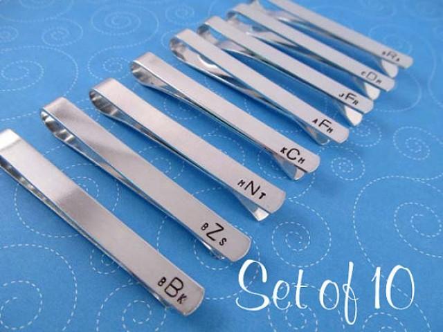 personalized tie bars set of 10 tie groomsmen gift
