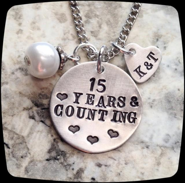 Anniversary Jewelry 10 Year 20 Year Wedding Anniversary Gift Present Wife Necklace Couple