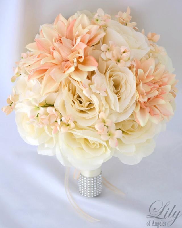 Silk Flower Wedding Bouquet Silk Wedding Arrangements Artificial Bridal Bouquets Silk Bridal
