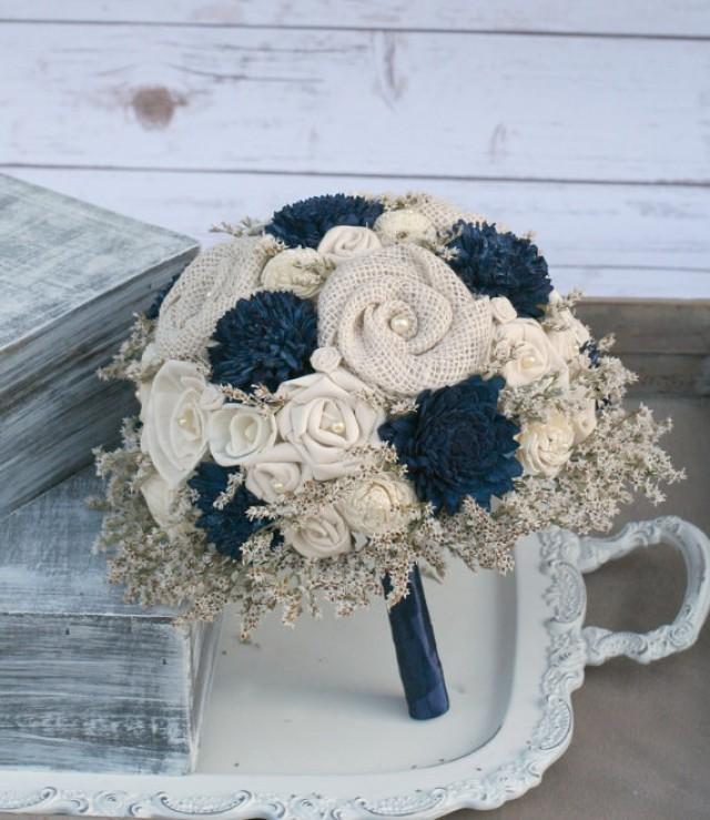 Wedding Flowers Wood Flowers Fabric Rosettes Burlap 2286759