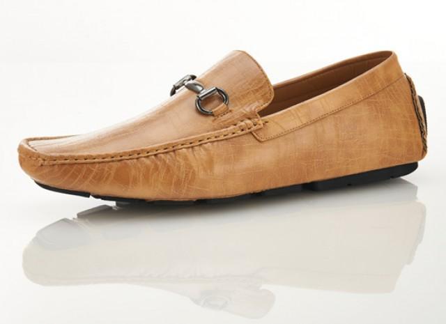 8fb5f785cb9c5 wedding photo - Men s Genuine Leather Beige Horsebit Driver Loafers shoes