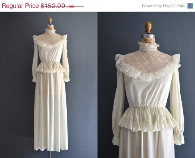 Sale 20 off 70s wedding dress 1970s wedding dress for 1970s wedding dresses for sale