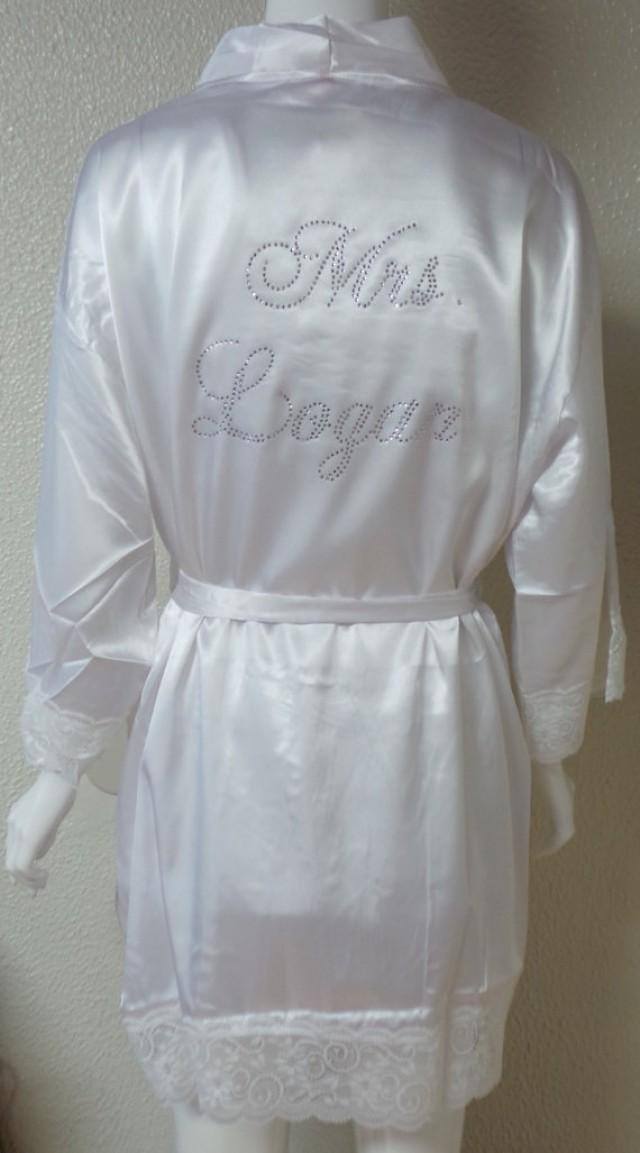 Mrs Last Name Robe Personalized Robe Personalized