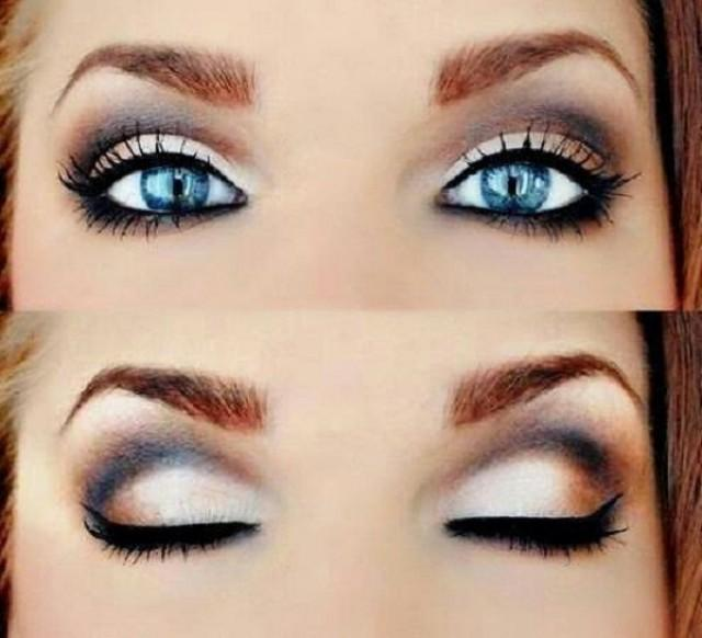 Макияж для голубых глаз с