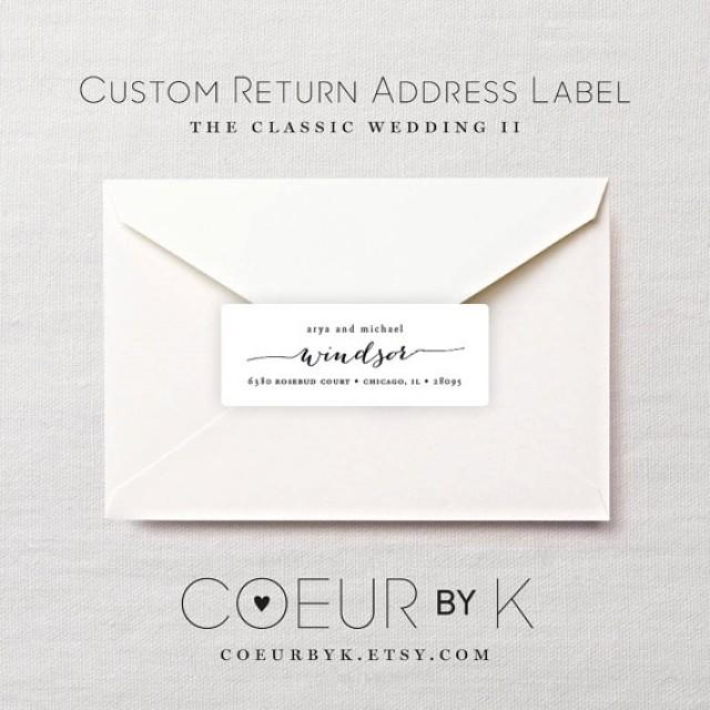 Custom Wedding Return Address Label The Classic Wedding