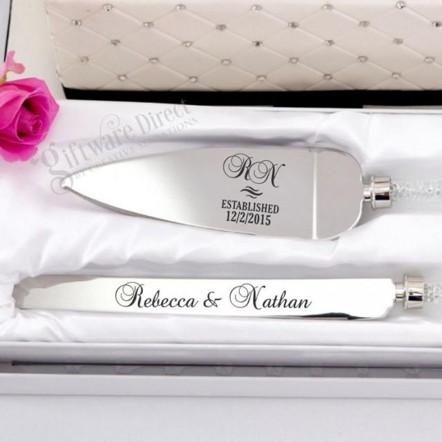 personalised engraved cake serving wedding set knife engagement server stainless 2288214 weddbook. Black Bedroom Furniture Sets. Home Design Ideas