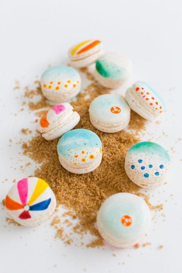 Food & Favor - DIY Beach Macarons #2288379 - Weddbook