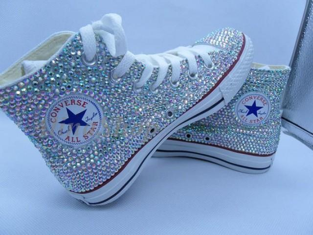 9473ab98016 AB bling Wedding Converse Shoes rhinestone sparkle Bridal Converse Shoes  crystal bling sneakers