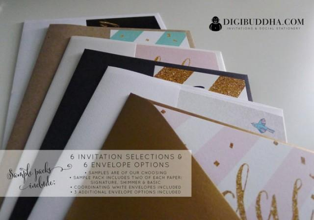 DIGIBUDDHA SAMPLE PACK 6 Invitations & 6 Envelopes Free Shipping ...
