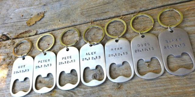 Unique Wedding Gifts For Groomsmen : The Groomsmen, Personalized Key Chains, Bottle Opener, Wedding Gifts ...