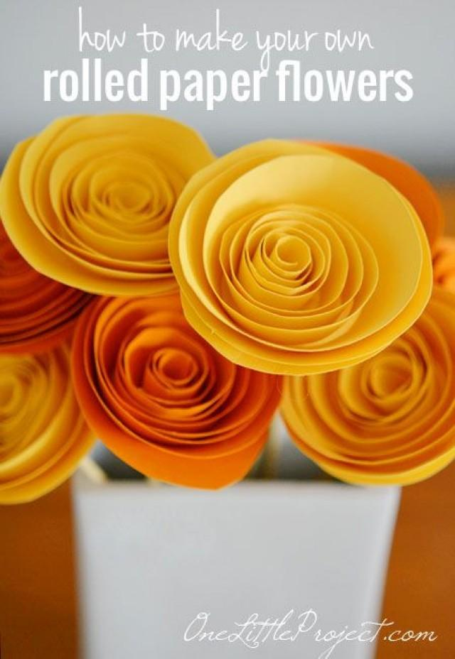 diy how to make rolled paper flowers 2290591 weddbook