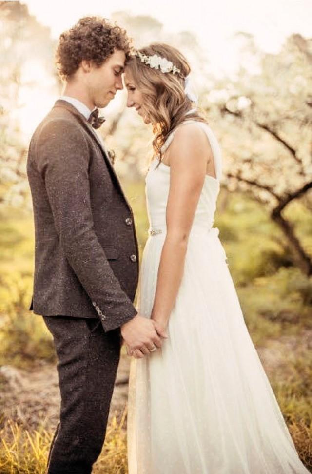 Bridal Hair Accessory, Wedding Flower, Cherry Blossom Flower Crown