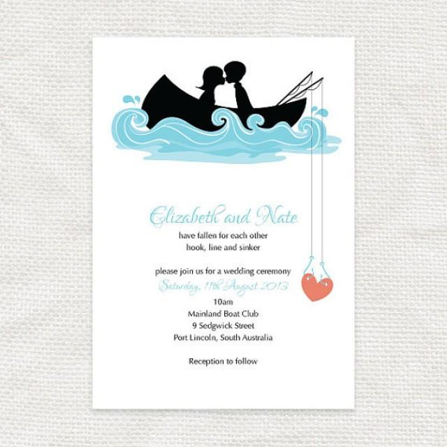 Hooked On You Invitation - Printable File