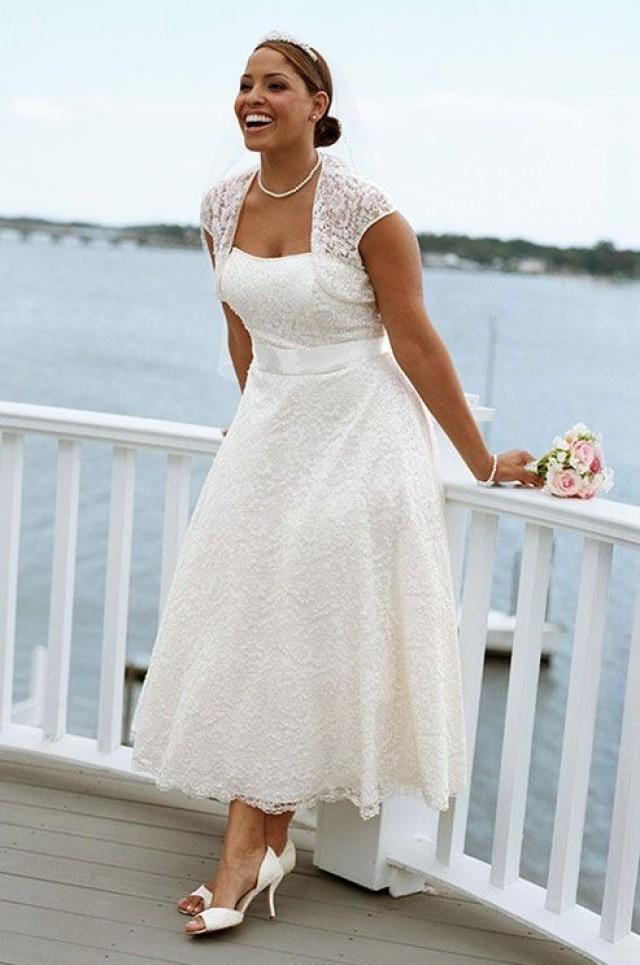 Plus size 50s style wedding dress