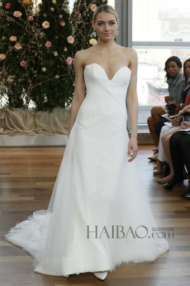 Cheap Sweetheart White Wedding Dresses 2015 Simple Isabelle Armstrong Tulle Garden A Line Sweep