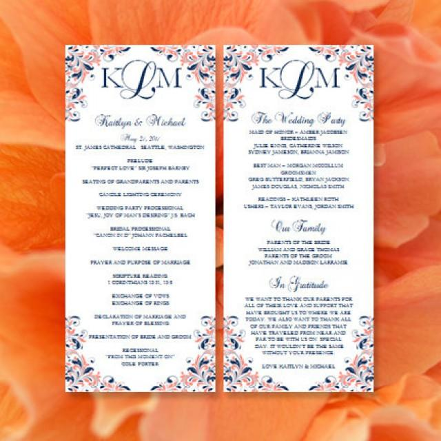 Wedding order of service program template thingsgalaqp for Wedding blessing order of service template