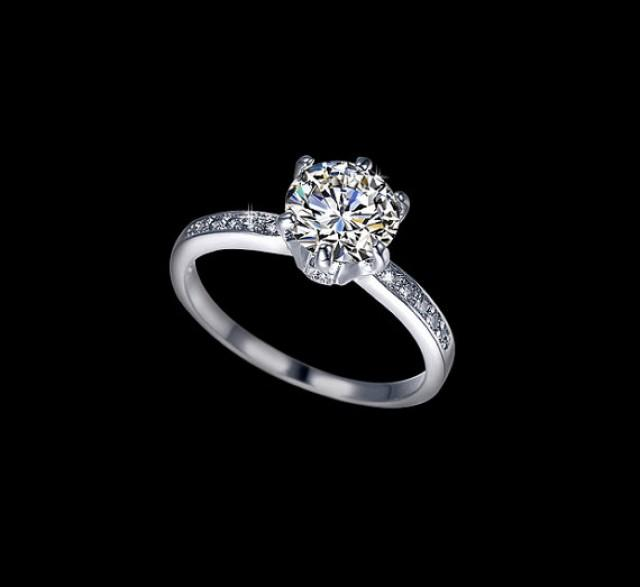 diamond wedding accent rings