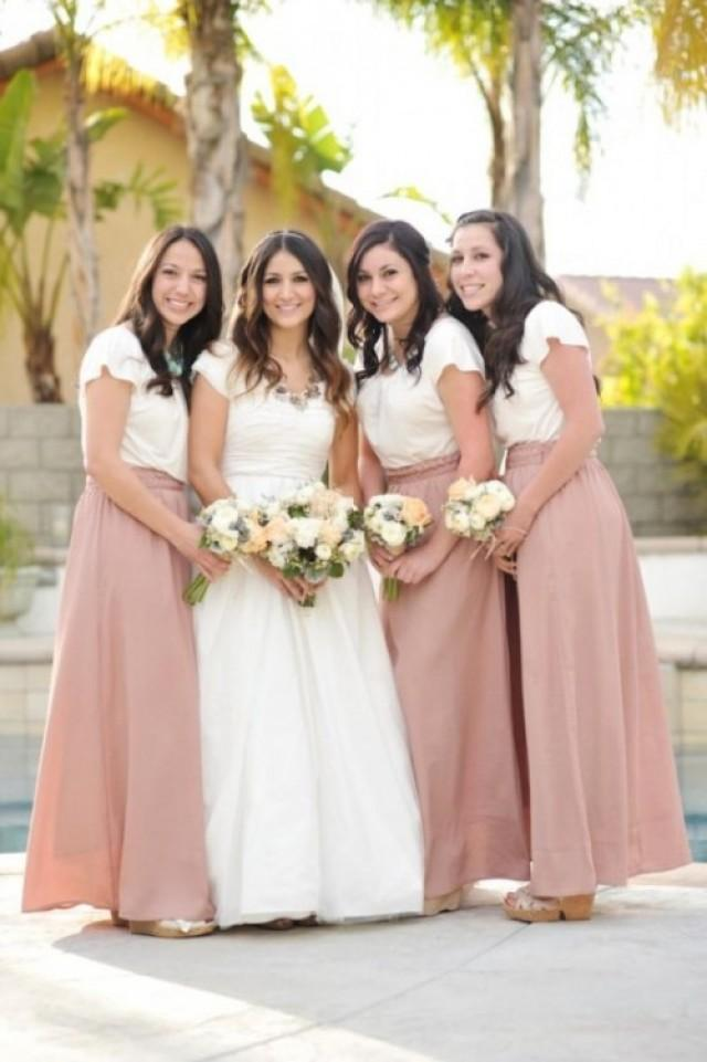 17 Pretty Maxi Skirt Bridesmaids Style Ideas
