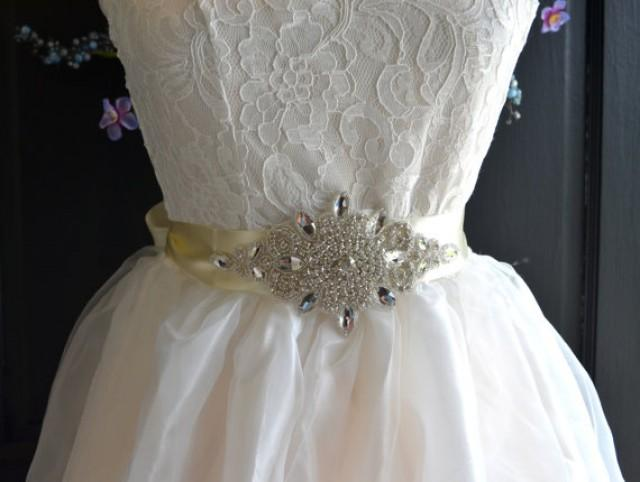 Wedding sash rhinestone wedding dress sash rhinestone for Sparkly belt for wedding dress