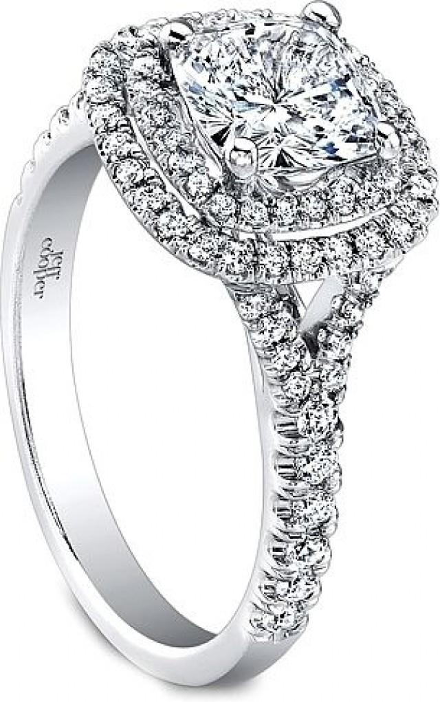 Jeff Cooper Double Halo Diamond Engagement Ring Weddbook