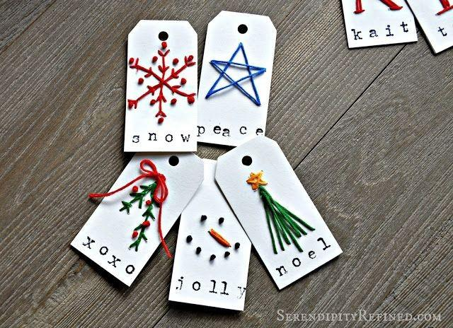 Christmas holiday personalized monogram gift tag craft for Custom tags for crafts