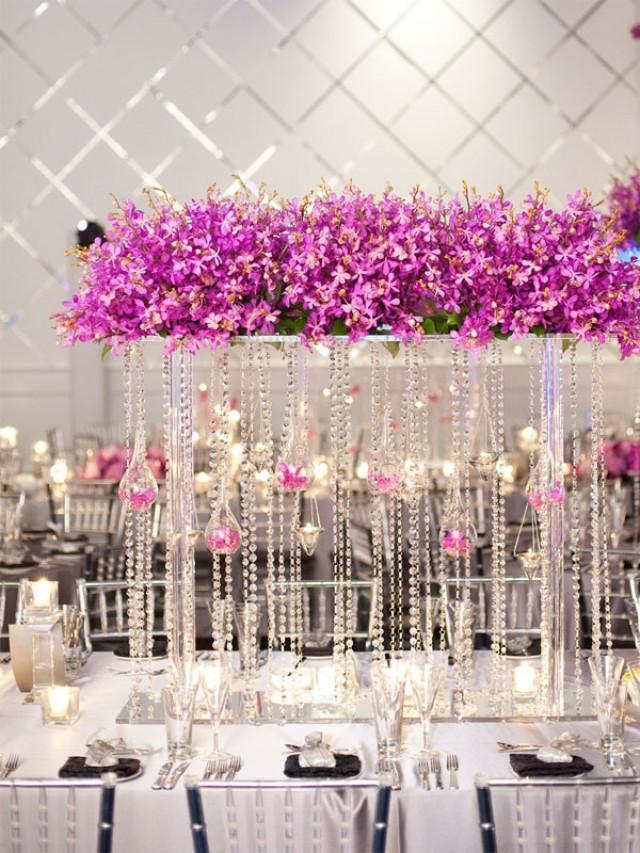 wedding photo - Wedding reception centerpieces