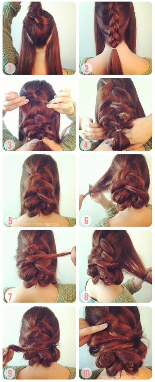 Красивые прически для длинных волос поэтапно фото