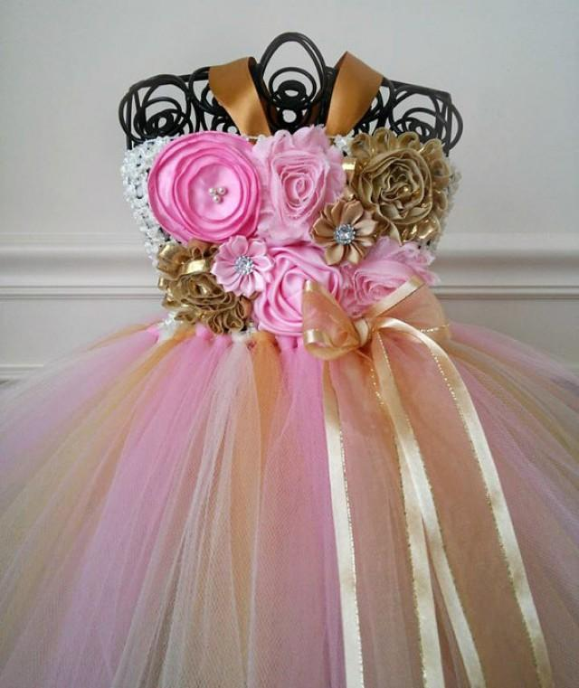 Pink And Gold Birthday Tutu Dress, Pink And Gold 1st ...