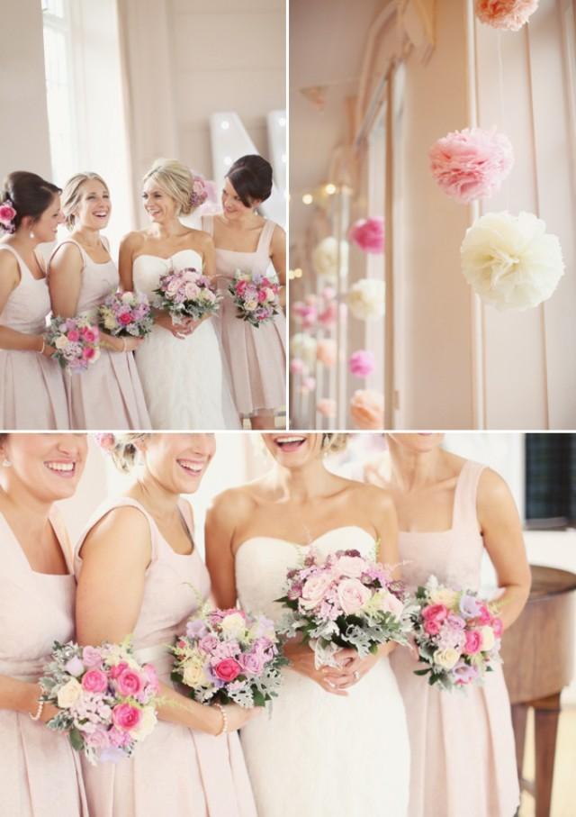 wedding photo - Pastel Color Bridesmaids