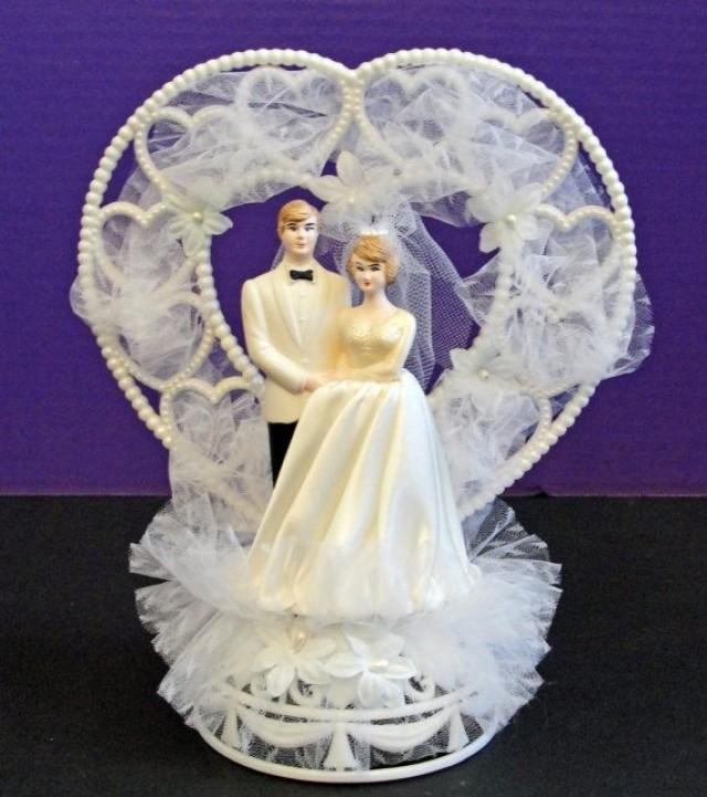 Blonde Bride Wedding Cake Toppers