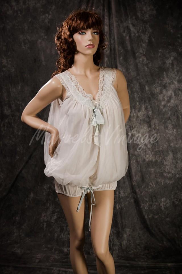vintage eyeful by ruth flaum chiffon lingerie set rare