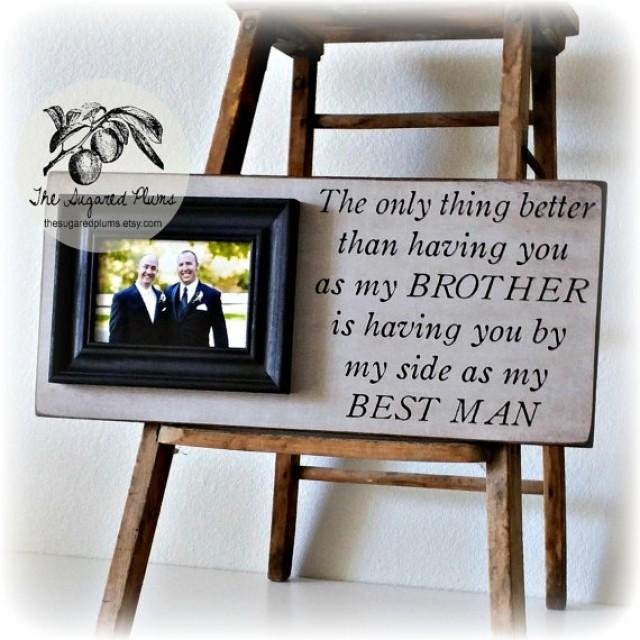Best Man Gift Groomsman Groomsmen Brother Wedding Gift Personalized ...