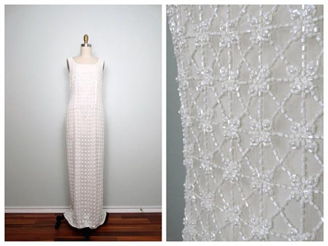 Heavy white beaded gown heavily embellished wedding for Heavy beaded wedding dresses