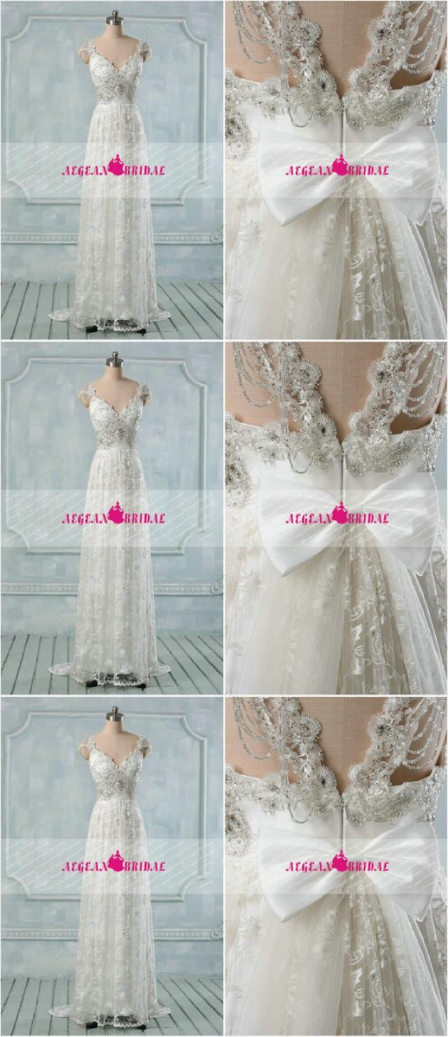 RW295 Embroidered Wedding Dress With Removable Train Mermaid Bridal ...
