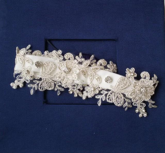 Wedding Leg Garter Wedding Leg Belt Rustic Wedding Garter Bridal Garter Ivory Lace Lace