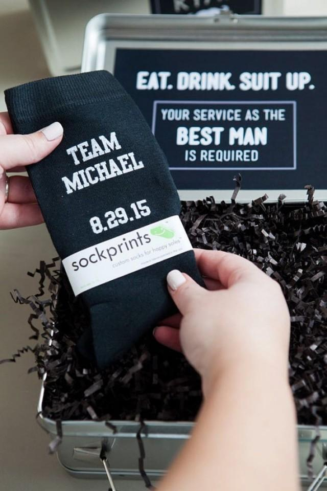 Mens Wedding Party Socks Groom Groomsmen Socks Funny Wedding Gift Ideas Personalized Wedding