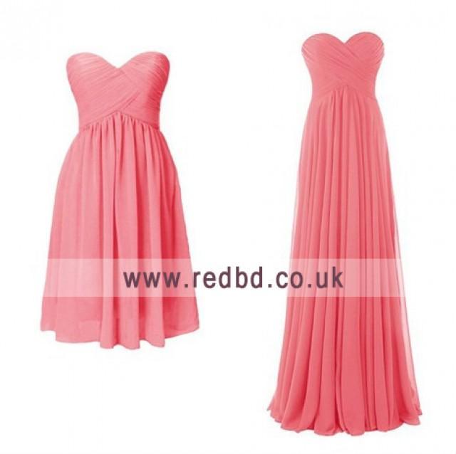 wedding photo - Short or Long - Coral Bridesmaid Dresses