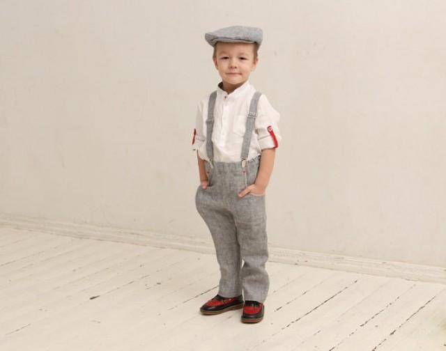 Ring Bearer Outfit Wedding Party Outfit Family Photo Prop Outfits Ideas Boys Linen Suit Boys ...