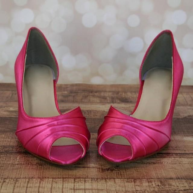 Fuschia Pink Kitten Heel Shoes - The Cutest Kittens