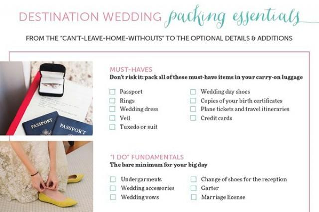 the only destination wedding packing list you need weddbook