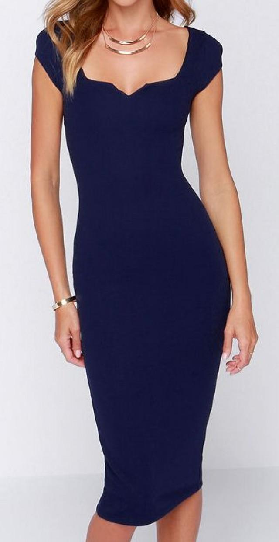 e7073596cac0 Exclusive Main Dame Navy Blue Midi Dress