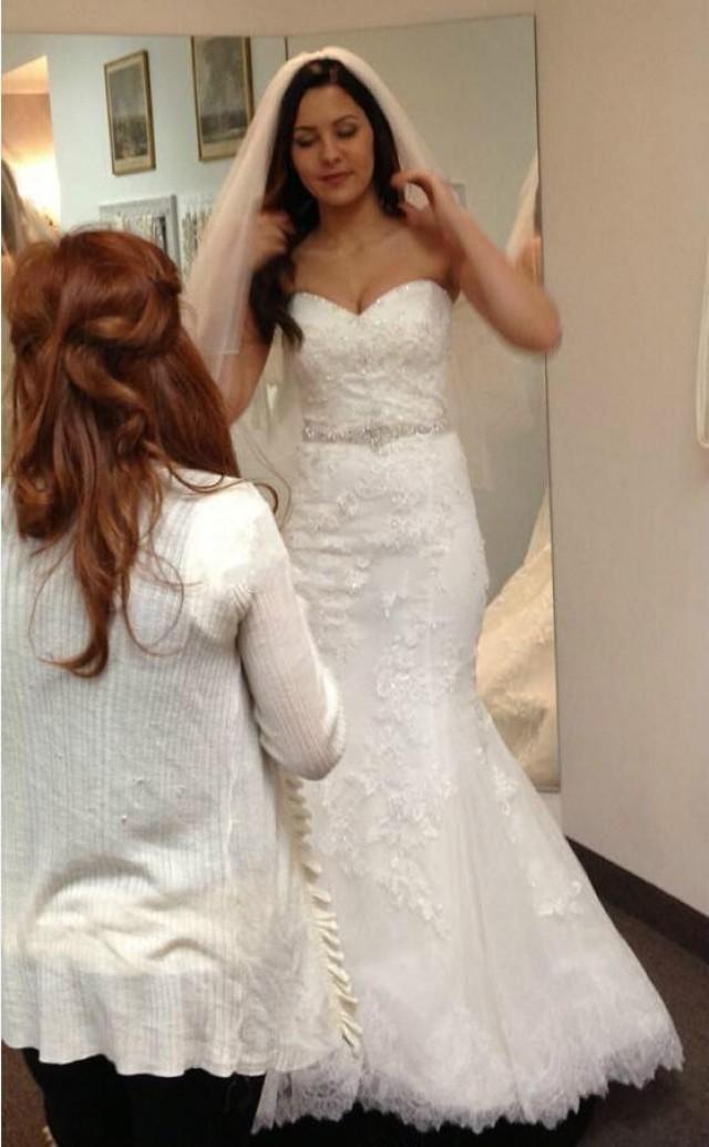 2015 real image lace mermaid wedding dresses beaded belt for True mermaid wedding dresses